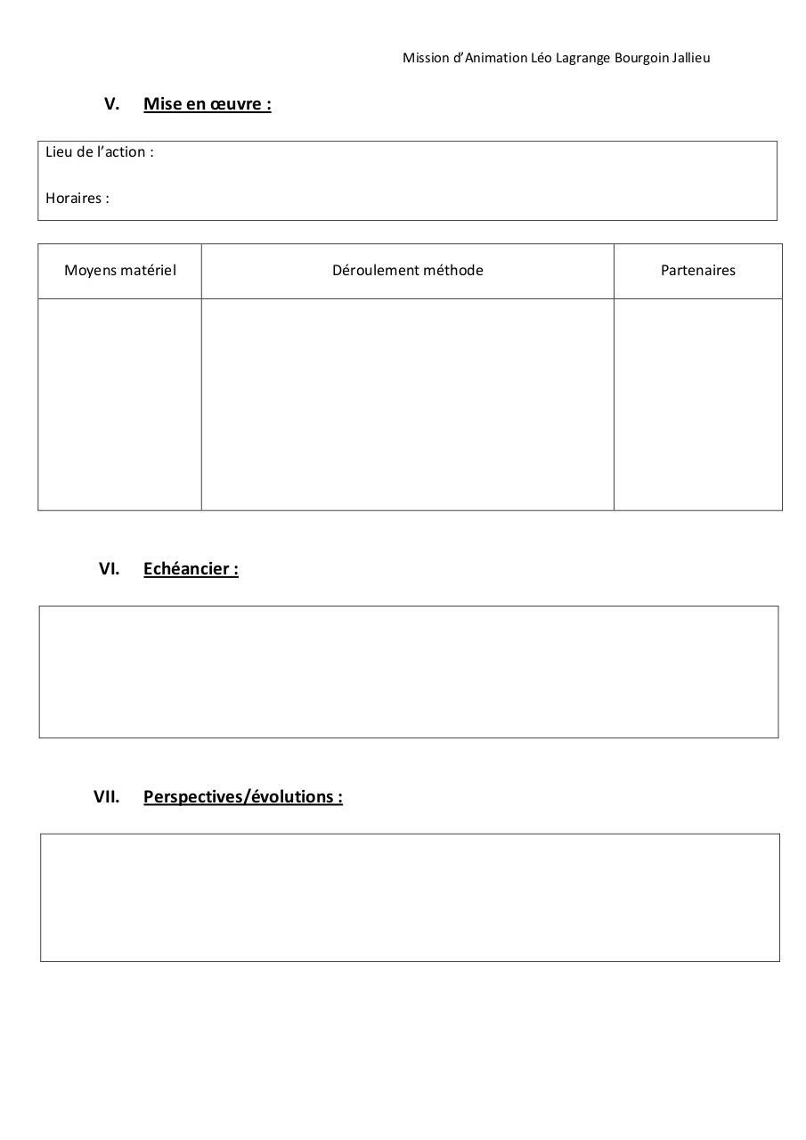 Fiche projet par direction fichier pdf for Projet d animation cuisine