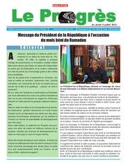 le progres n 326 edition du jeudi 11 juillet 2013