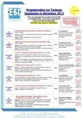 programmation toulouse septembre a decembre 2013