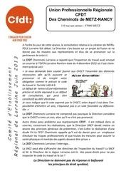 tract cer lorraine juin 2013