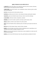 Fichier PDF bible personnage principaux
