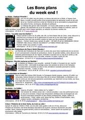 les bons plans du week end semaine n 29 2013