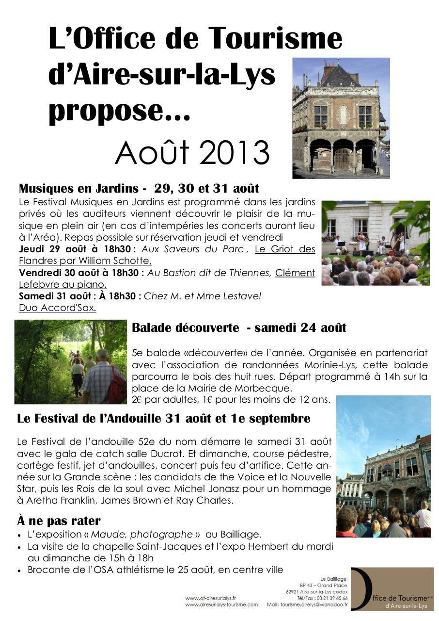 News ao t par office de tourisme fichier pdf - Centre de telechargement office 2013 ...