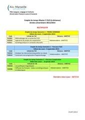 emploi du temps m2 fle pro 2013 2014