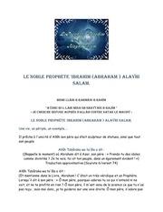 le noble prophete ibrahim abraham alayhi salam