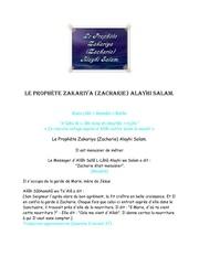 le prophete zakariya