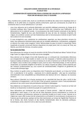 communique projet de constitution