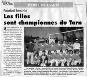 jsp feminine championne du tarn 1997 1998