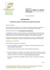 circulaire 03 2013 consultation r glementation p che