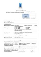 formulaire appel a propositions dnsc 02 juillet 2013