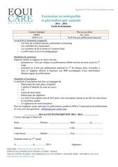 Fichier PDF inscription formation