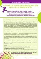 questionnaire consultation r glementation p che