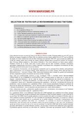 textes sur le revisionnisme de mao tsetoung