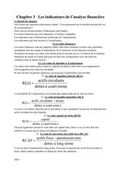 chapitre 3 les indicateurs de l analyse financiere by dev