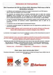 info intersyndicale nationnal euriware n3