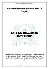 Fichier PDF reglement interieur du parti rpp
