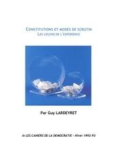 lardeyret et le regime parlementaire