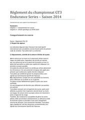 Fichier PDF reglement du championnat gt3 endurance series 1