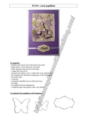 Fichier PDF tuto carte papillon