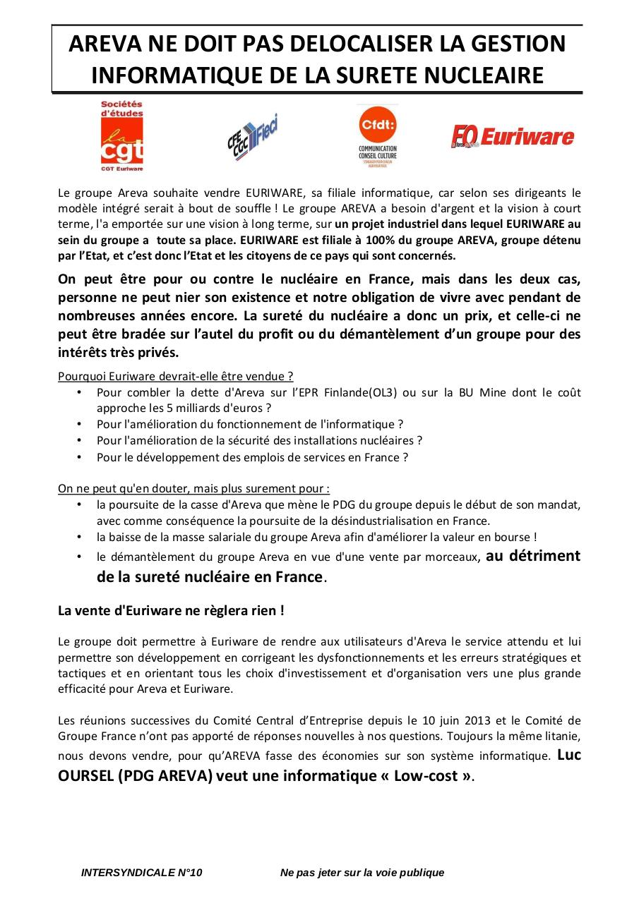 INFO INTERSYNDICALE NATIONNAL EURIWARE N9.pdf - page 1/2