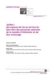 rapport jardin mars 2013