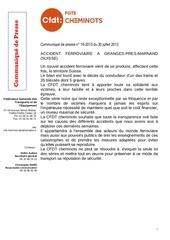 communique de presse 16 2013 accident ferroviaire 30 07 2013
