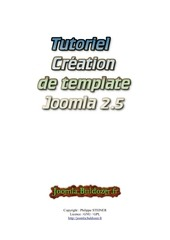Fichier PDF creation de template joomla 2 5 v 1 0