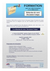 invitation formation redaction de votre document unique