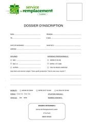 dossier candidature service de remplacement lozere