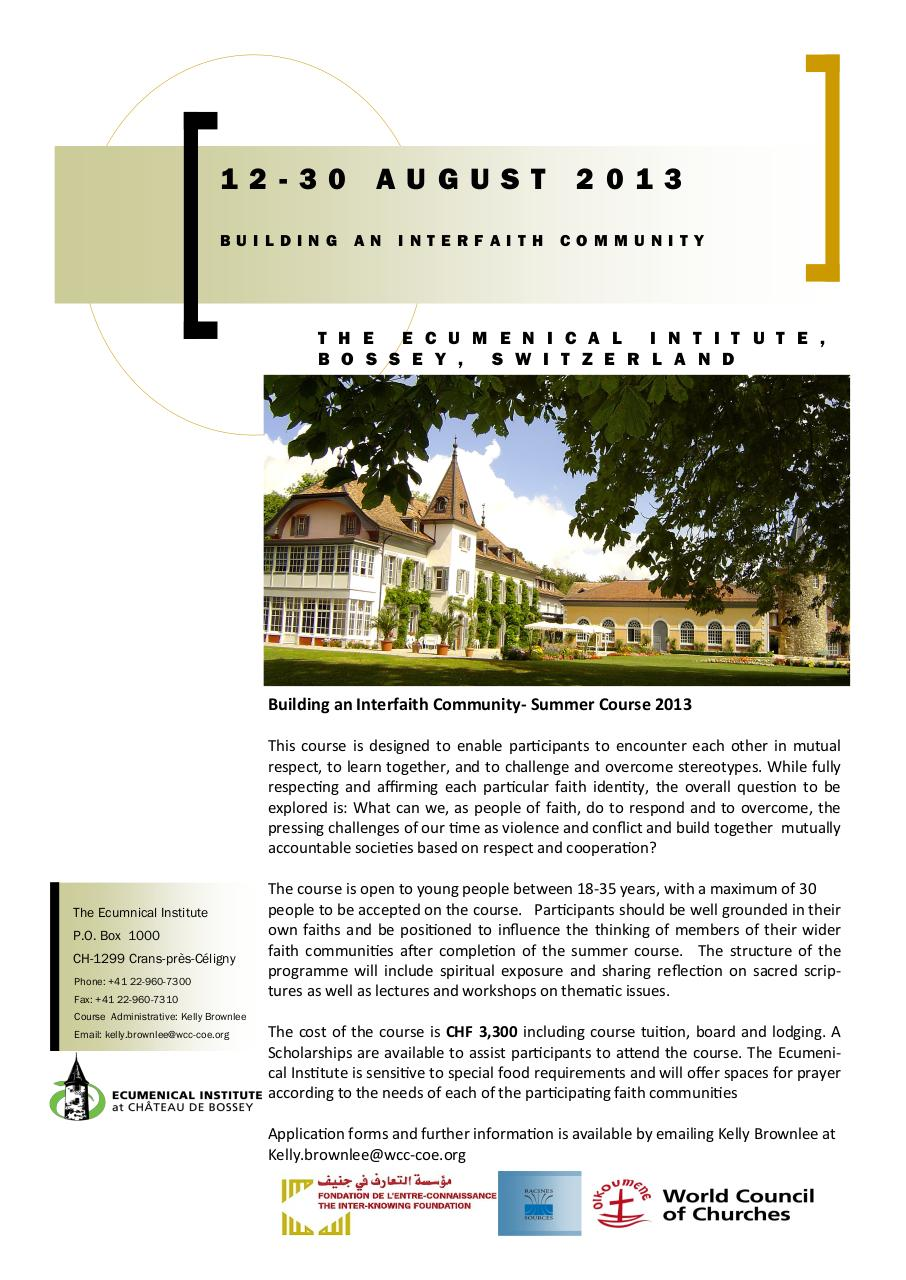 Aperçu du document BOSSEY Brochure2013.pdf - page 1/2