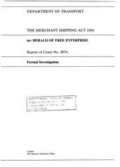 herald of free enterprise report