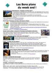 les bons plans du week end semaine n 31 2013