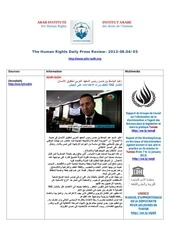 Fichier PDF aihr iadh human rights press review 2013 08 05