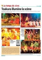 les nouvelles 2013 08 05 toakura illumine la scene