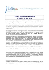 mafle lettre d information 1 2013