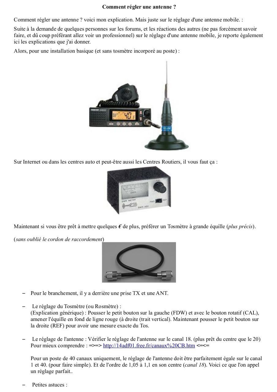 comment r gler une antenne par dundee33 par r my fichier pdf. Black Bedroom Furniture Sets. Home Design Ideas