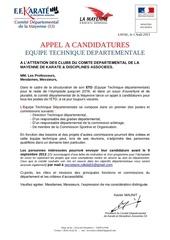 appel a candidatures etd cdkda53 2013