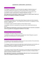 charte association