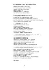 Fichier PDF paroles