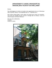 appartement louer