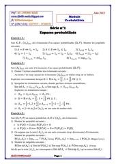serie 1 espaces probabilises