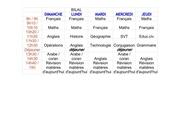 emploi du temps bilal 2013 2014 feuille 1