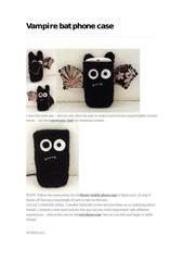 Fichier PDF vampire bat phone case