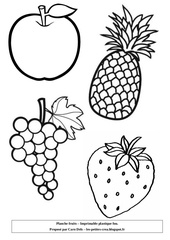 planche fruits