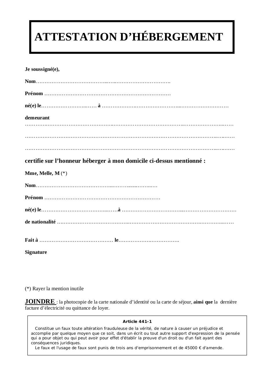 Aperçu du document attestation_hebergement.pdf - page 1/1