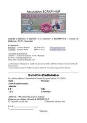 bulletin adhesion scrapinup 2013 2014