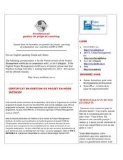 cite collegiale gestion de projets 2013 2014