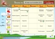 menus ecoles 30 sept au 4 oct 2013