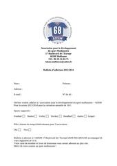 Fichier PDF bulletin adhesion