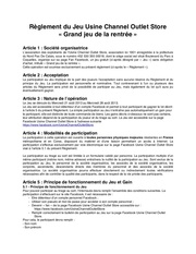 Fichier PDF reglement du jeu de la rentree usine channel outlet store